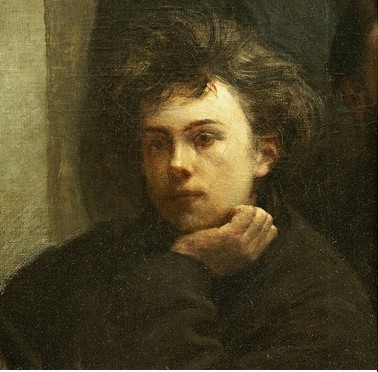 A Corner of the Table by Ignace Henri Fantin-Latour with Rimbaud and Verlains