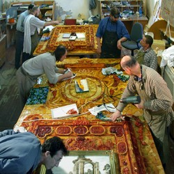 Tsarkoïe Selo - chambre d'ambre (artisans)