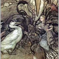 arthur rackham - Alice 2 (Alice_in_Wonderland_by_Arthur_Rackham_-_03_-_But_who_has_won)