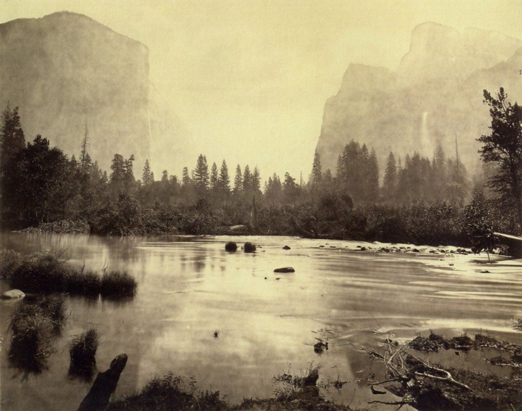 Eadweard J. Muybridge - Valley of the Yosemite, from Rocky Ford. No. 4, 1872.