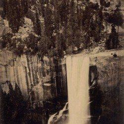 "Eadweard J. Muybridge - Valley of the Yosemite,  Shower of Stars) ""Vernal Fall."" 400 Feet Fall. No. 29, 1872."