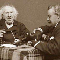 Chevreul & Nadar photographiés par Paul Tournachon, le fils de Nadar
