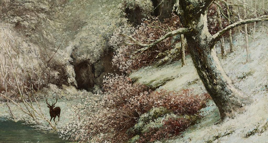 La gorge aux loups (détail) - Gustave Courbet (1819-1877)
