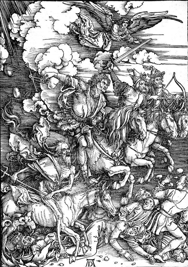 Les quatre cavaliers de l'Apocalypse, extrait de L'Apocalypse, 1497-98 (Albrecht Dürer, 1471-1528)