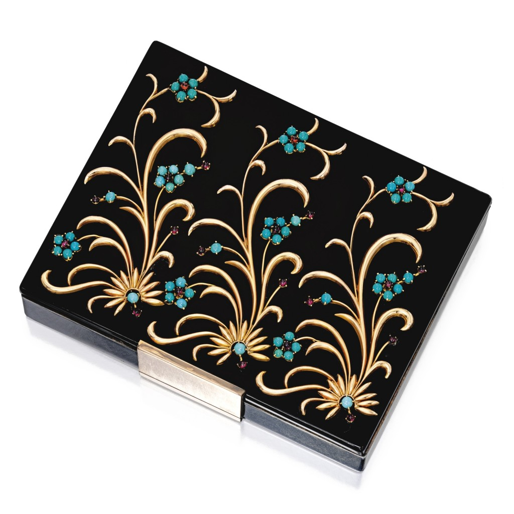 Silver, Gold, Colored Stone and Enamel Minaudière, Van Cleef & Arpels, France