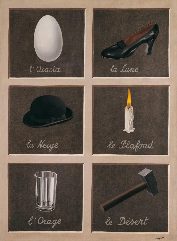 La clef des songes (René Magritte, 1898-1967)