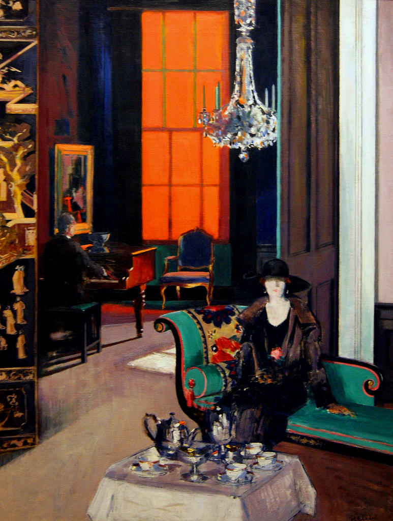 The Orange Blind (1929) by Francis Campbell Cadell (Scottish, 1884-1937)