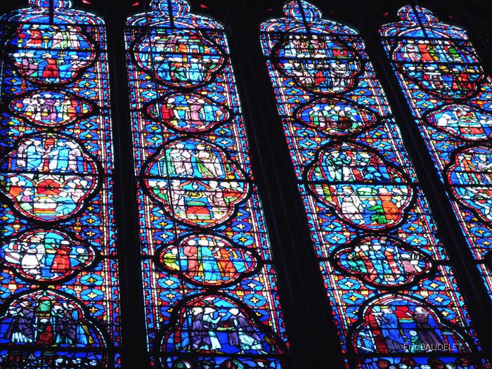 Sainte-Chapelle du Palais, Paris (vitrail, détail)