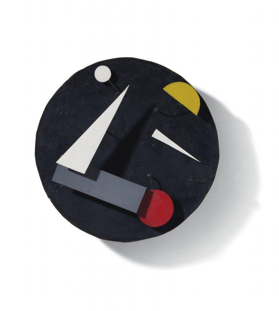Jean Tinguely, Swiss made, éléments métalliques mobiles et mécanisme d'horlogerie, 1961. Ancienne collection Dagny et Jan Christie's. Courtesy Christie's Inc. © Christies images, 2016.