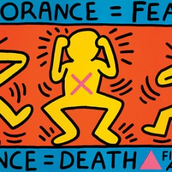 Ignorance = fear, silence = death, 1989 (Keith Haring, 1958-1990)