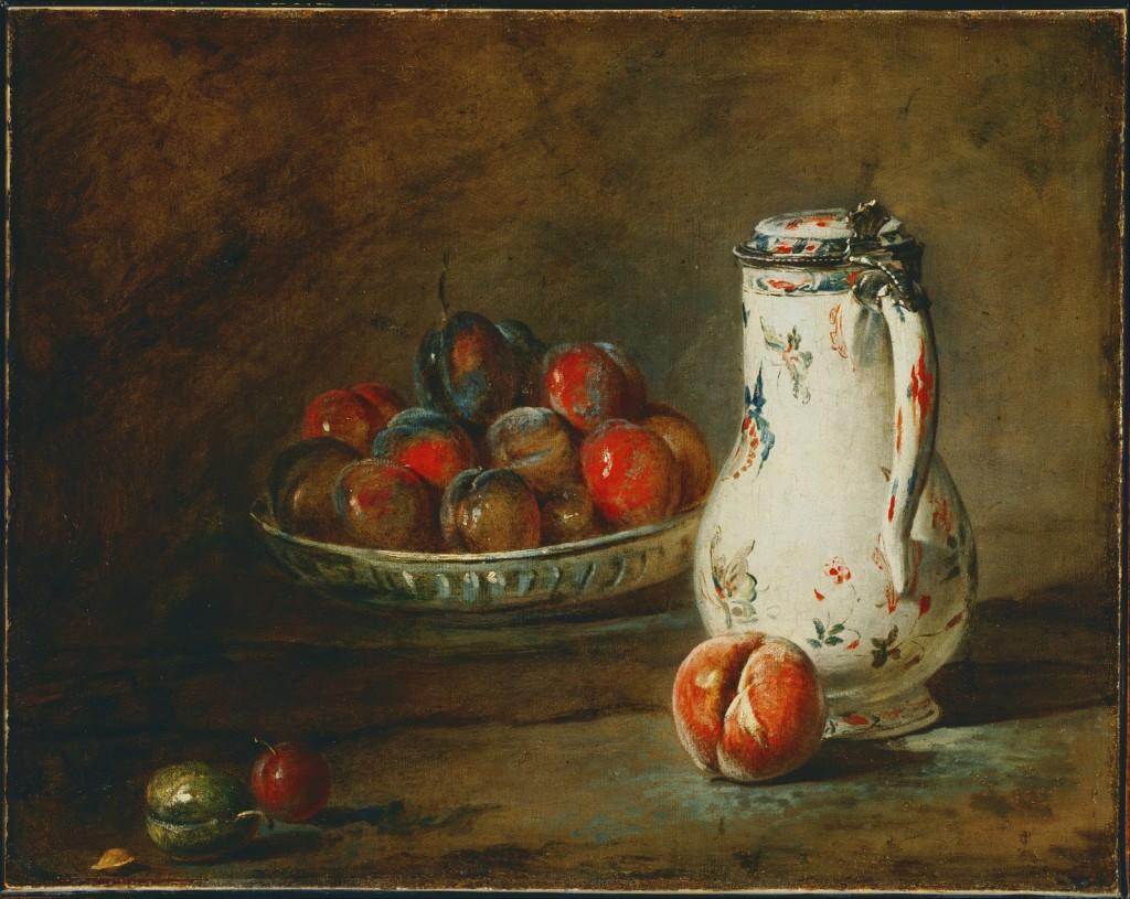 Un bol de prunes (Jean-Baptiste Siméon Chardin, 1699-1779)