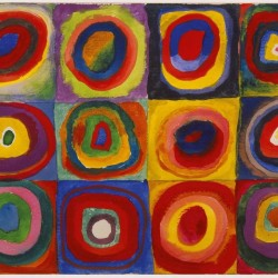 Color Study. Squares with Concentric Circles, 1913 (Vassily Kandinsky 1866-1944)