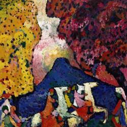 Blue Mountain (Der blaue Berg), 1908-9 (Vassily Kandinsky 1866-1944)