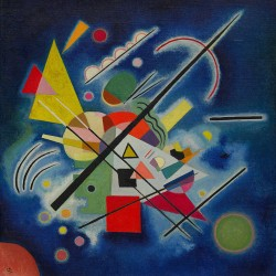 Blue Painting (Blaues Bild), 1924 (Vassily Kandinsky 1866-1944)