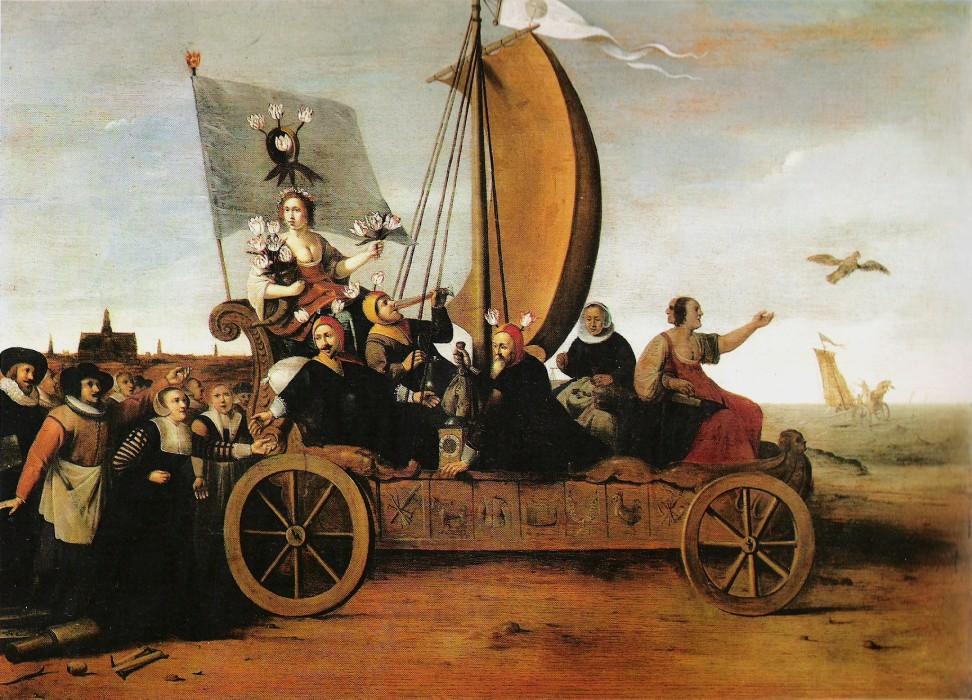 Le triomphe de Flore dans le char de la Fortune, vers 1640, par Hendrik Gerritsz. Pot (vers 1580–1657)
