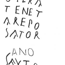 Reproduction de l'intégralité d'une inscription retrouvée à Pompéi