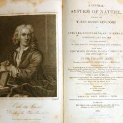 Carl von Linné - édition anglaise du Systema Naturae, début du XIXe siècle