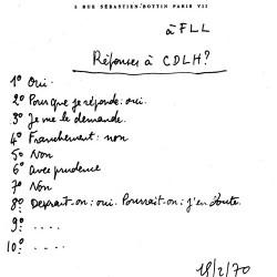 Réponse de Raymond Queneau à un questionnaire des éditions de la NRF.
