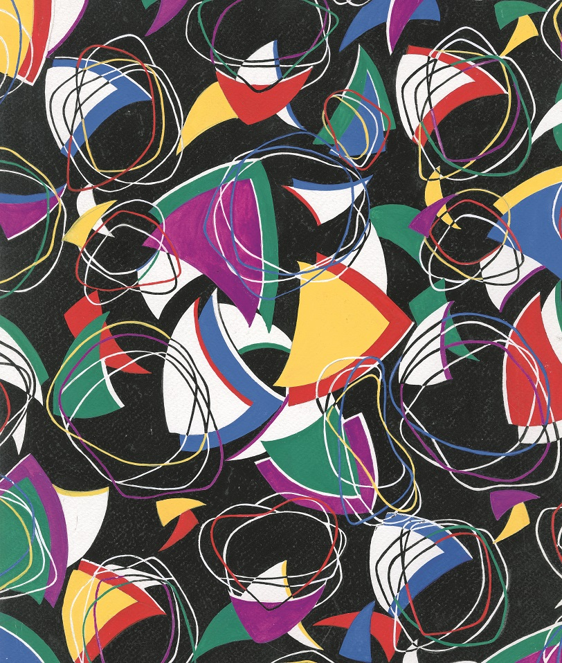 Abstract: Hand-painted paper, late 20th century, Studio Tucano, Italy. Courtesy / © Documentary Designs, Inc. d/b/a The Design Library (page 47)