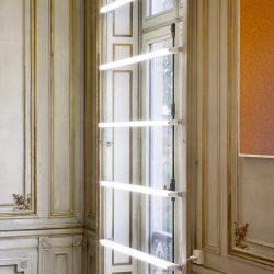 Vue de l'exposition Berger&Berger à Private Choice: Les couleurs du ciel ; Jour Électrique ; Mystère 01.51.91.00  89.59.01.00 (photo © Laurent P. Berger)