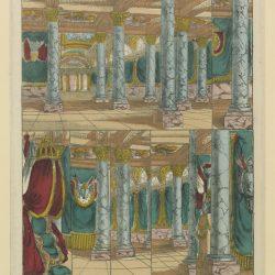 Décors N°6 : Fabrique de Pellerin, Imprimeur-libraire à Epinal (1842) (source gallica.bnf.fr / Bibliothèque nationale de France)