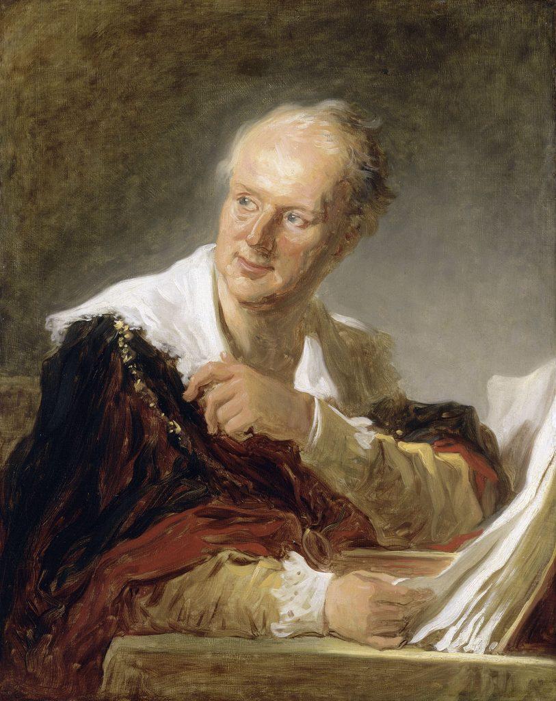 Denis Diderot 1713-1784), peint par Jean-Honore Fragonard (1732-1806), Musée Du Louvre.