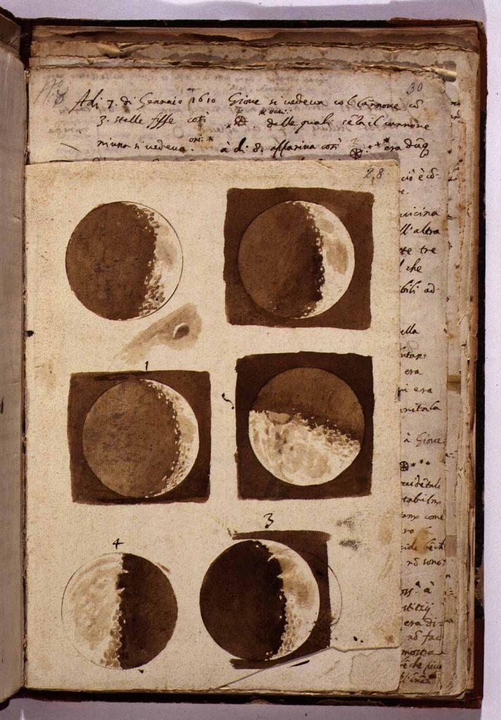 Galileo, Galilei, Phases lunaires, 1610