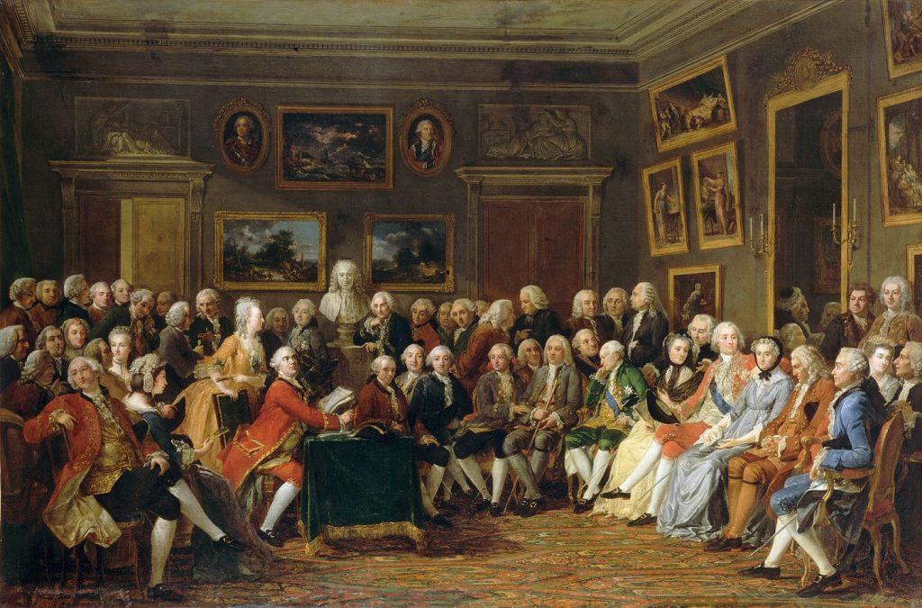 Une soirée chez Madame Geoffrin, (1812), Anicet Charles Gabriel Lemonnier (1743-1824)
