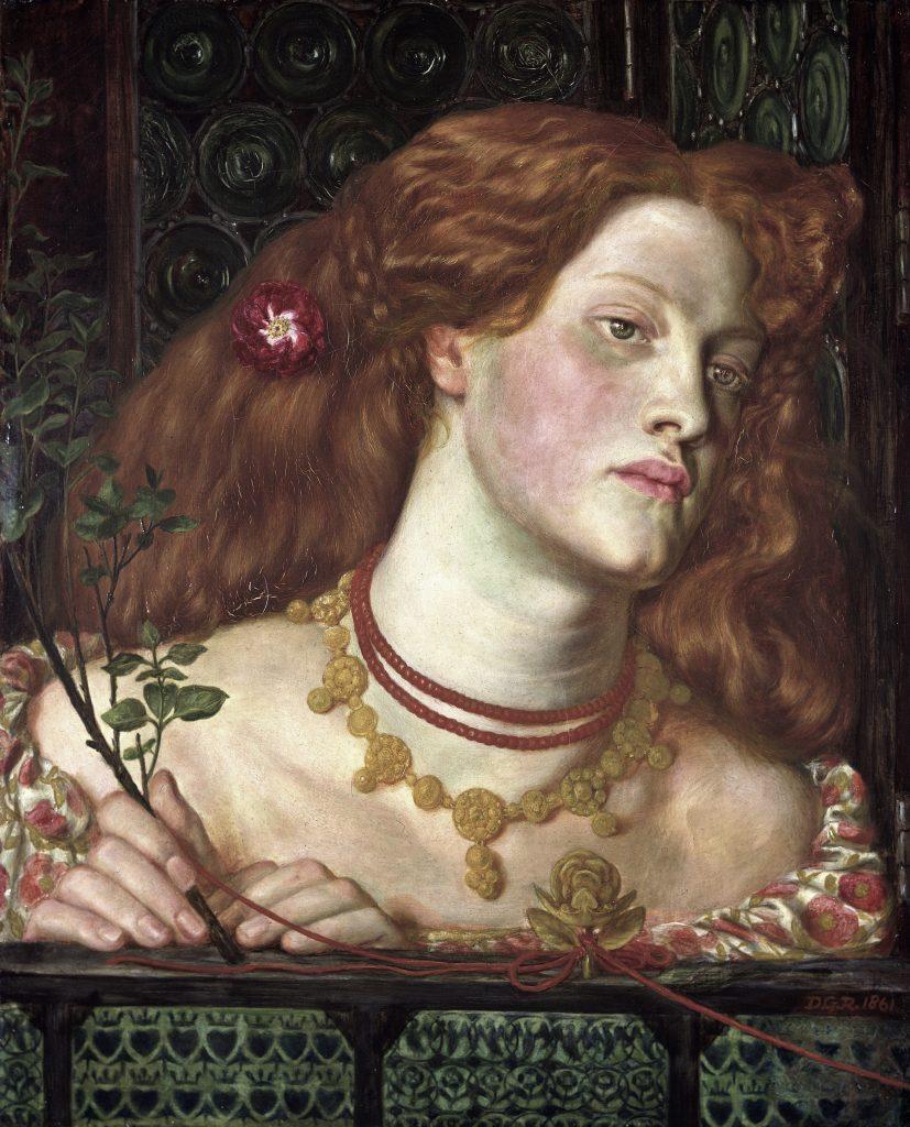 Fair Rosamund, 1861 (Dante Gabriel Rossetti, 1828-1882), National Museum.