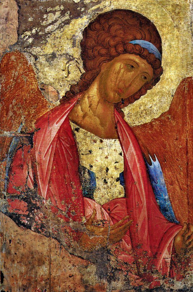Andreï Roublev (1360/70 - 1428) -  Archange Mikhaïl de Roublev de la déisis de la Dormition de Zvenigorod (1420),  Galerie Tretiakov, Moscou