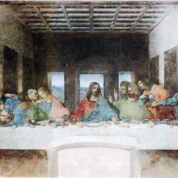 Léonard de Vinci (1452-1519) - La Cène (1494-1498), fresque du réfectoire du couvent dominicain de Santa Maria de le Grazie, à Milan)
