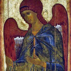 L'Archange Gabriel de Visotski ( de la déisis Visotski tchin, du XIVe siècle), Galerie Tretiakov, Moscou