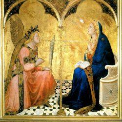 Ambrogio Lorenzetti (1290-1348) - L'Annonciation (1344) (Pinotèque Nationale, Sienne)