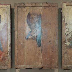Andreï Roublev (1360/70 - 1428) - Triptyque de la Dormition de Zvenigorod (1420),  Galerie Tretiakov, Moscou