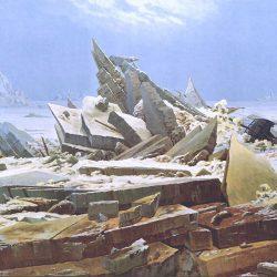 Caspar David Friedrich (1774-1840) - La mer de glace (1823/24), Kunsthalle de Hambourg