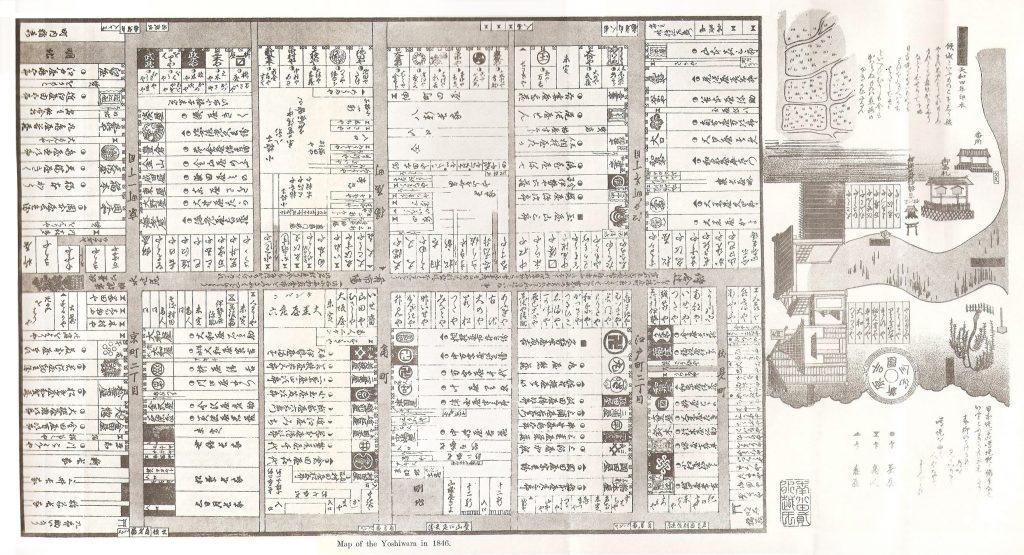 Carte du Yoshiwara, 1846.