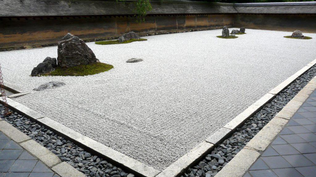 Le jardin du temple de Ryōan-ji, à Kyoto