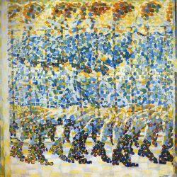 Giacomo Balla - Ragazza che corre sul Balcone  (Fillette courant sur un balcon) (1912) Museo del Novecento à Milan