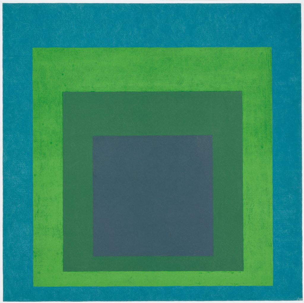 Josef Albers (1888-1976) - Homage to the Square: Soft Spoken (1969), Metropolitan Museum of Art