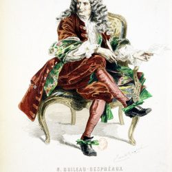 Nicolas Boileau (1636-1711) dessiné par Émile Bayard (1837-1891), (Source Bibliothèque nationale de France)