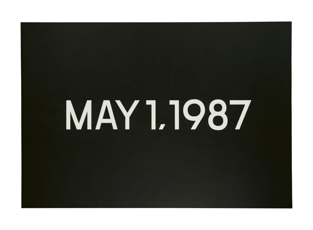 On Kawara, May 1, 1987, acrylique sur toile, 154.9 x 226.1 cm. (© Christie's images, 2017)
