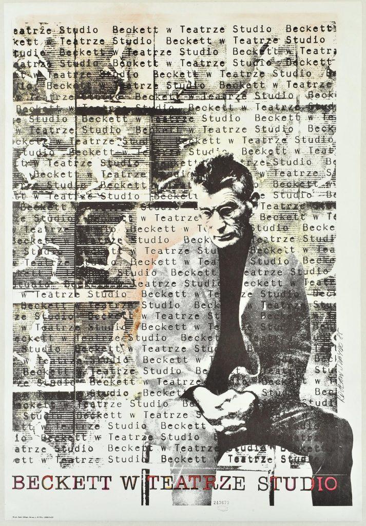 Samuel Beckett (1906-1989), affiche de théâtre pour une mise en scène par Roslaw Szaybo en Pologne (Source Bibliothèque nationale de France)
