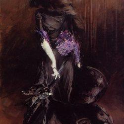 Portrait de la marquise de Casati avec un lévrier  (1908) par Giovanni Boldini (1842-1931)