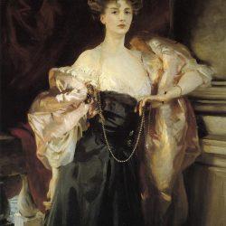 Portrait de Lady Helen Vincent, Vicomtesse d'Abernon (1904) par John Singer Sargent (1856-1925)