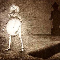 "Alfred Leopold Isidor Kubin (1877-1959), illustration. ""L'œuf""."