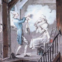 Poudrage de la perruque (XVIIIe siècle)