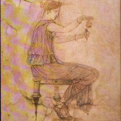 Romaine remplissant un flacon de parfum, Musée des Thermes, Rome (Giraudon).
