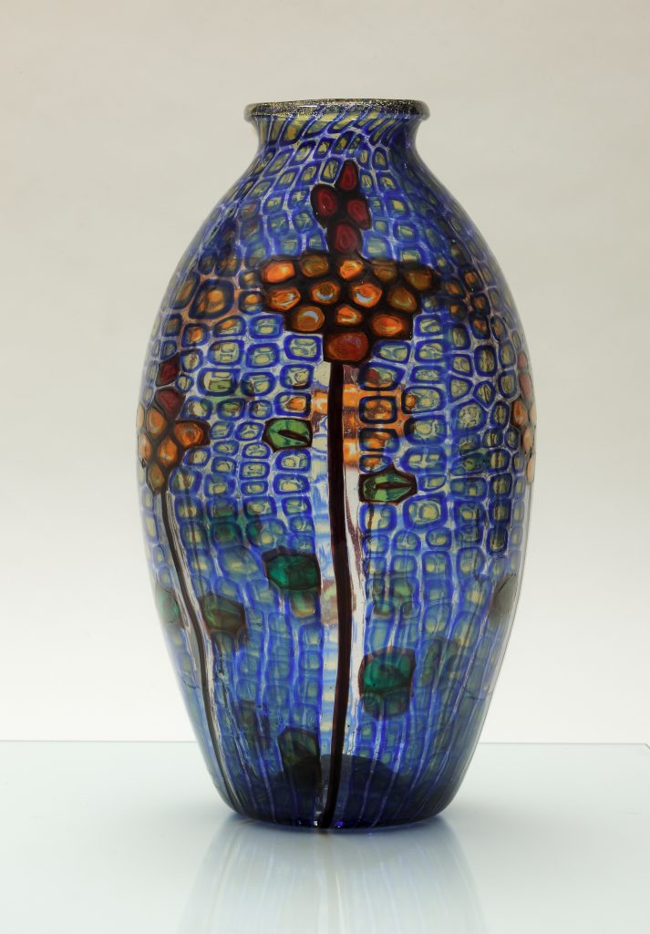 Vase à «murrine» transparentes, 1925, de Ercole Barovier (1889-1974), (photography©Robert Lorenzson), Collection particulière.