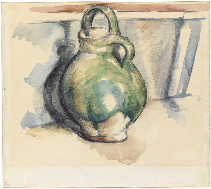 Paul Cézanne (1839 - 1906) Le cruchon vert (Photo© RMN-Grand Palais (musée d'Orsay) / Tony Querrec), Musée d'Orsay, conservé au Musée du Louvre, Paris.