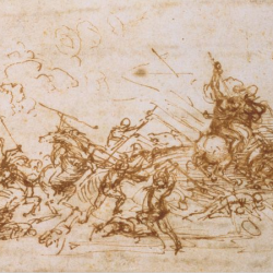Léonard de Vinci (1452-1519) - Etude pour la bataille d'Anghiari